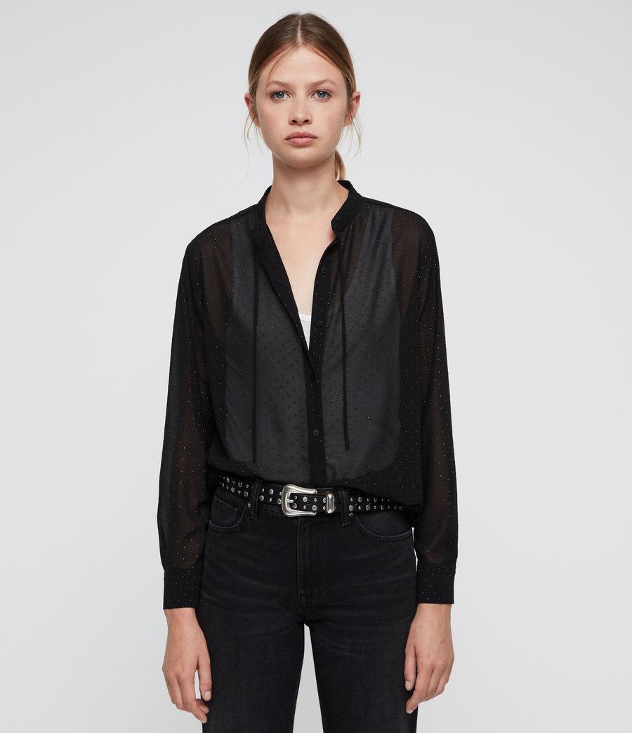 Women's Cada Shimmer Shirt (black) - Image 4