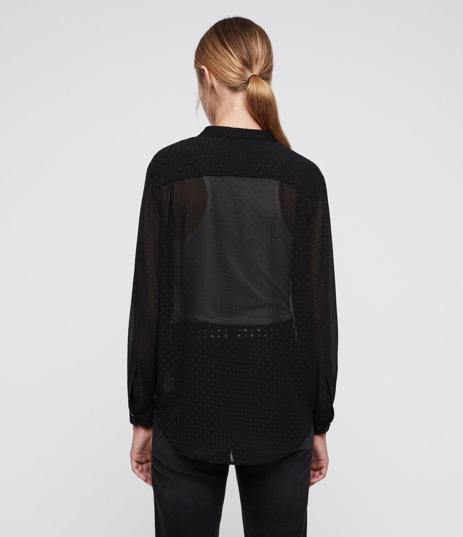 Women's Cada Shimmer Shirt (black) - Image 5