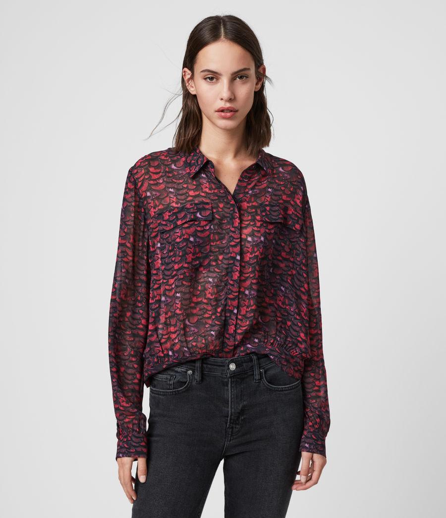 Women's Adeliza Plume Shirt (pink) - Image 1