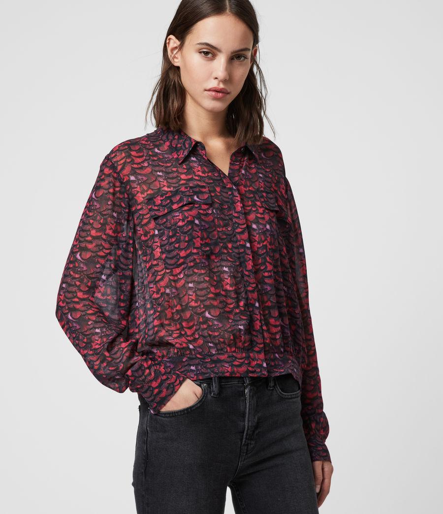 Women's Adeliza Plume Shirt (pink) - Image 4