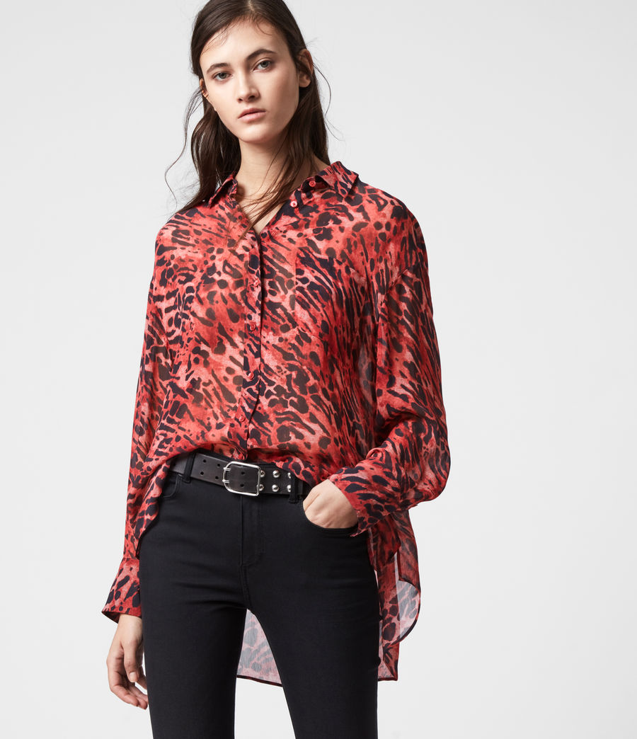Womens Bernie Ambient Shirt (red) - Image 1