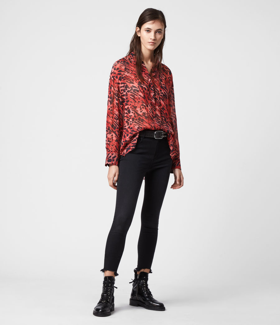Womens Bernie Ambient Shirt (red) - Image 3