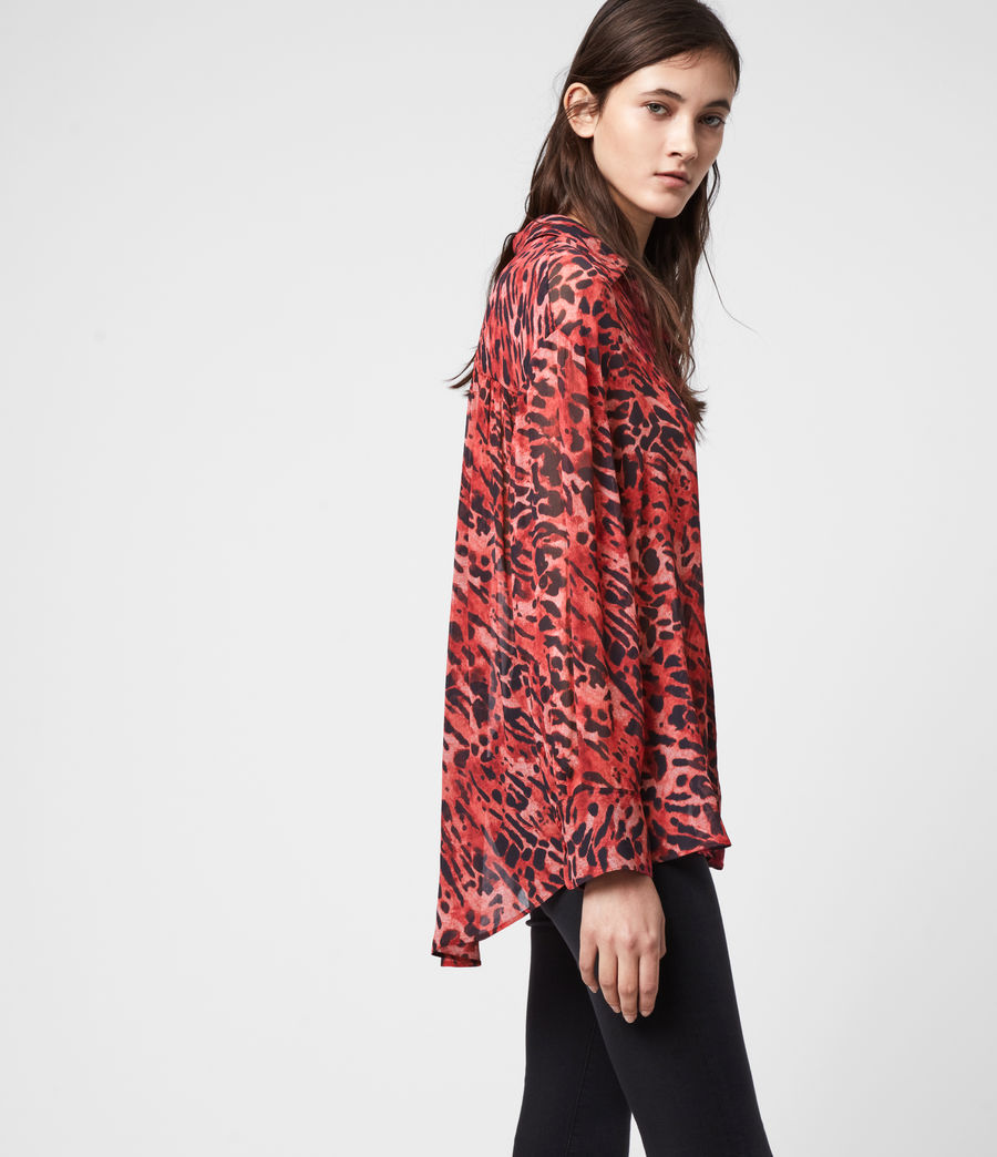 Womens Bernie Ambient Shirt (red) - Image 4
