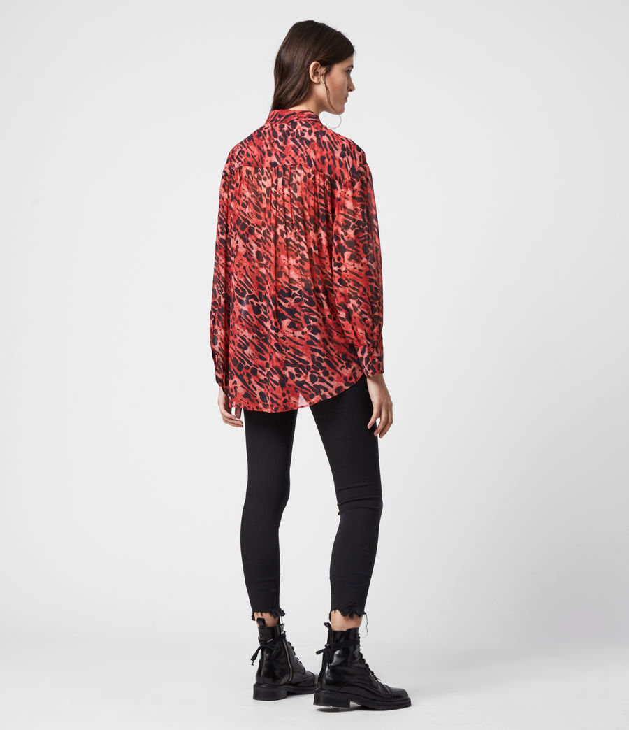 Womens Bernie Ambient Shirt (red) - Image 5