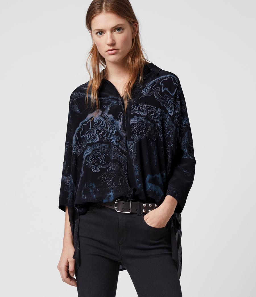 Women's Savanna Hatsukoi Shirt (oil_black) - Image 1