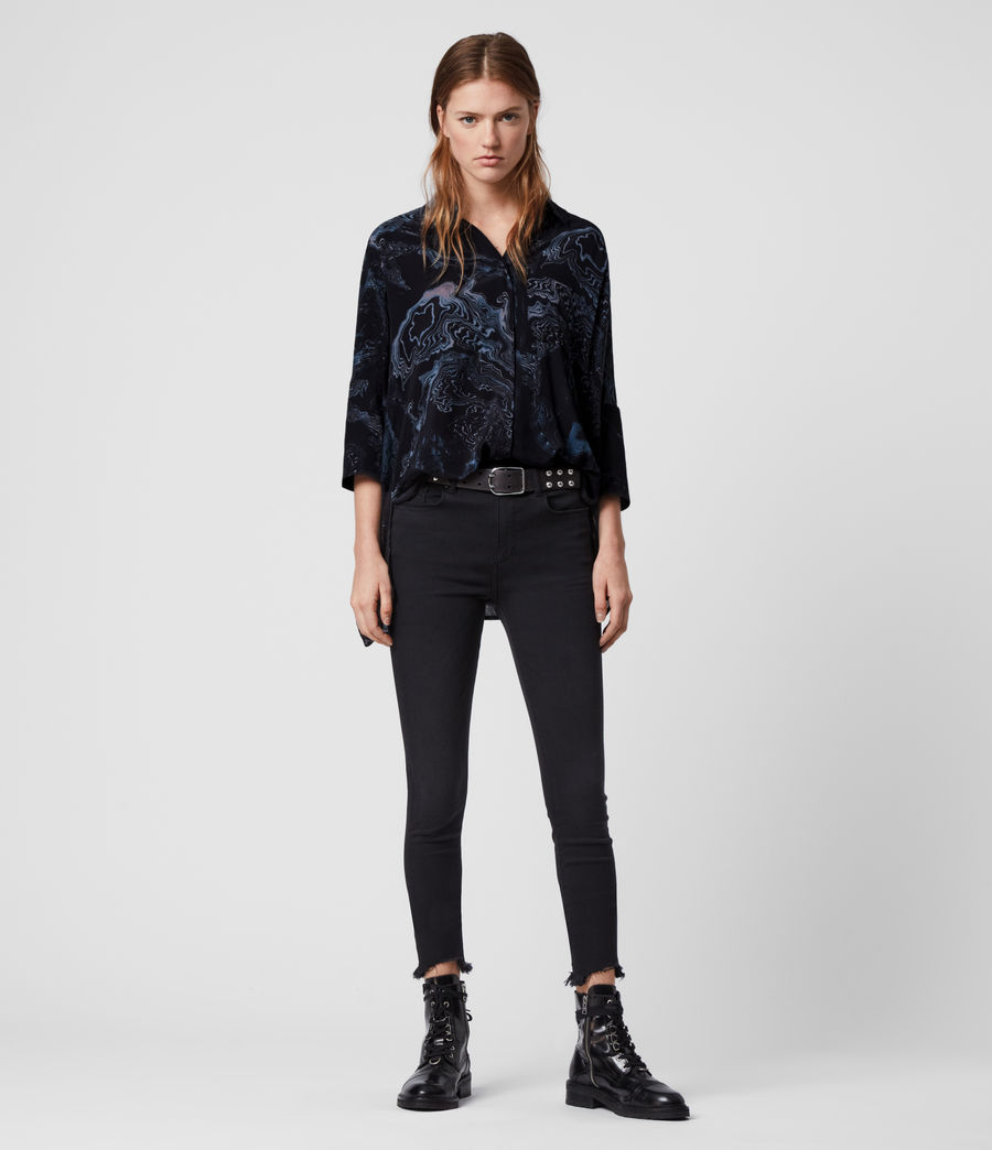 Women's Savanna Hatsukoi Shirt (oil_black) - Image 3