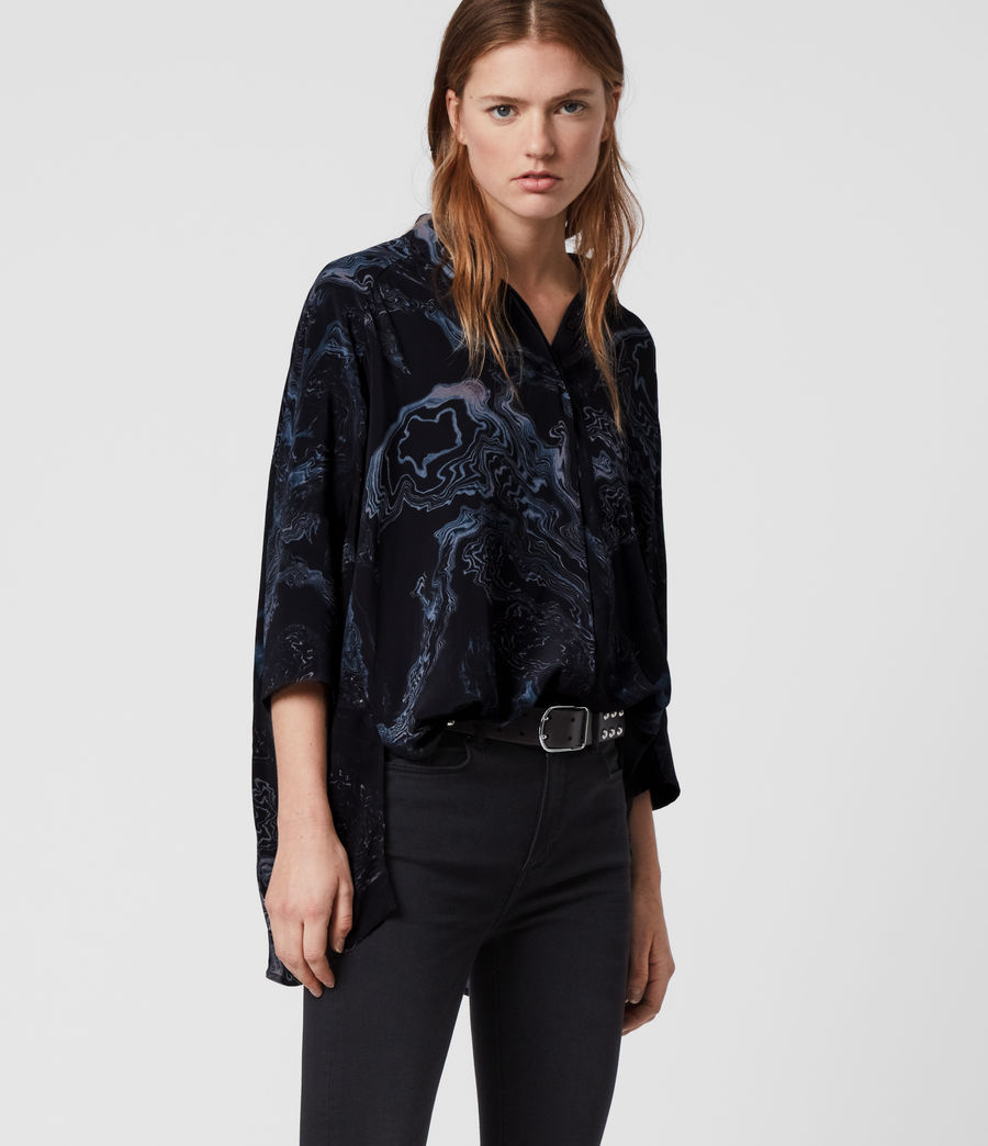 Women's Savanna Hatsukoi Shirt (oil_black) - Image 4