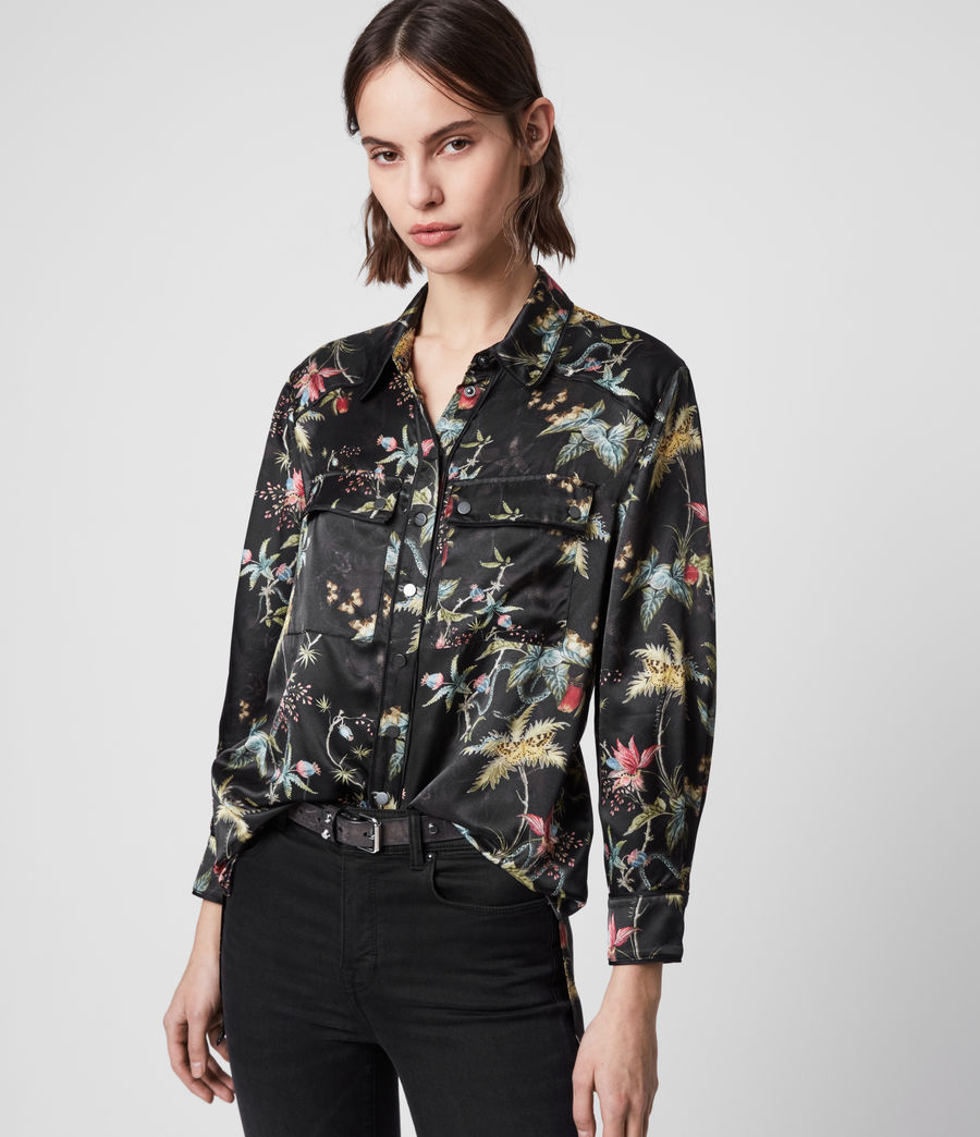 Women's Esther Silk Blend Evolution Shirt (black_multi) - Image 4