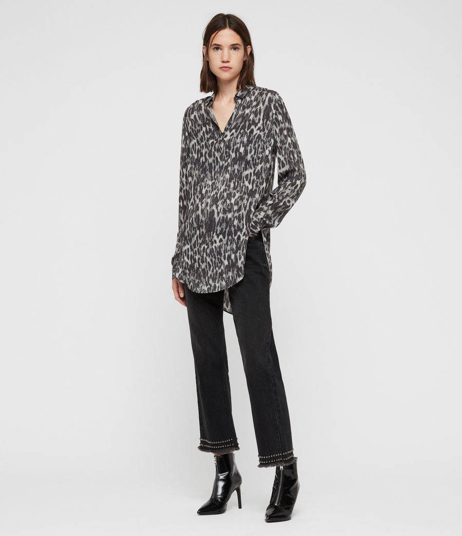 Mujer Keri Leopard Shirt (ash_grey) - Image 1