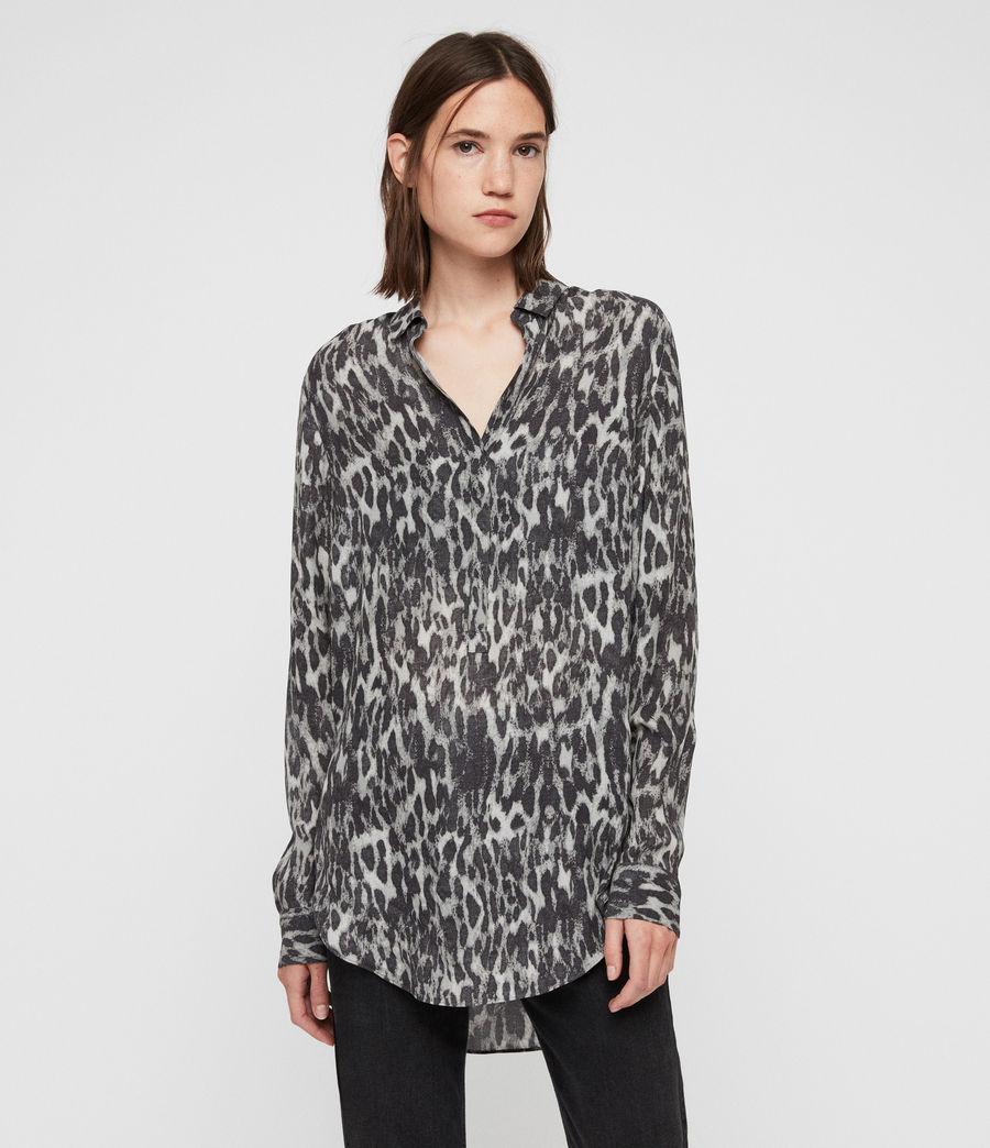 Mujer Keri Leopard Shirt (ash_grey) - Image 3