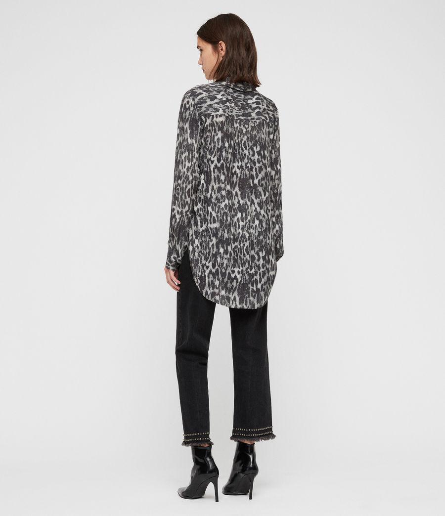 Mujer Keri Leopard Shirt (ash_grey) - Image 4