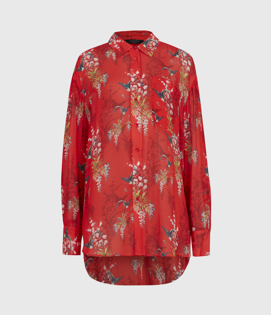 Womens Bernie Melisma Shirt (red) - Image 2
