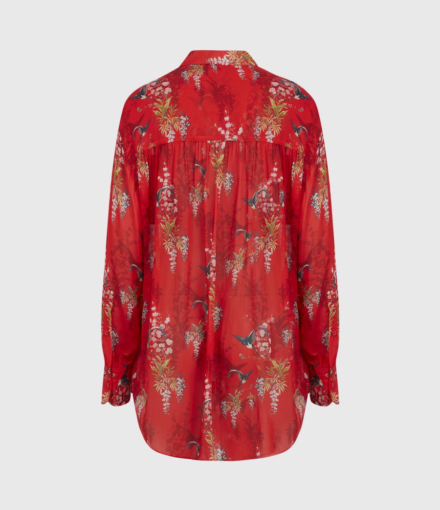 Womens Bernie Melisma Shirt (red) - Image 3