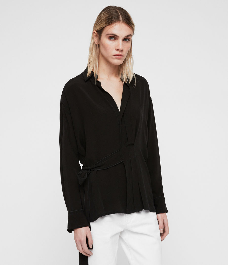 Womens Josi Shirt (black) - Image 4