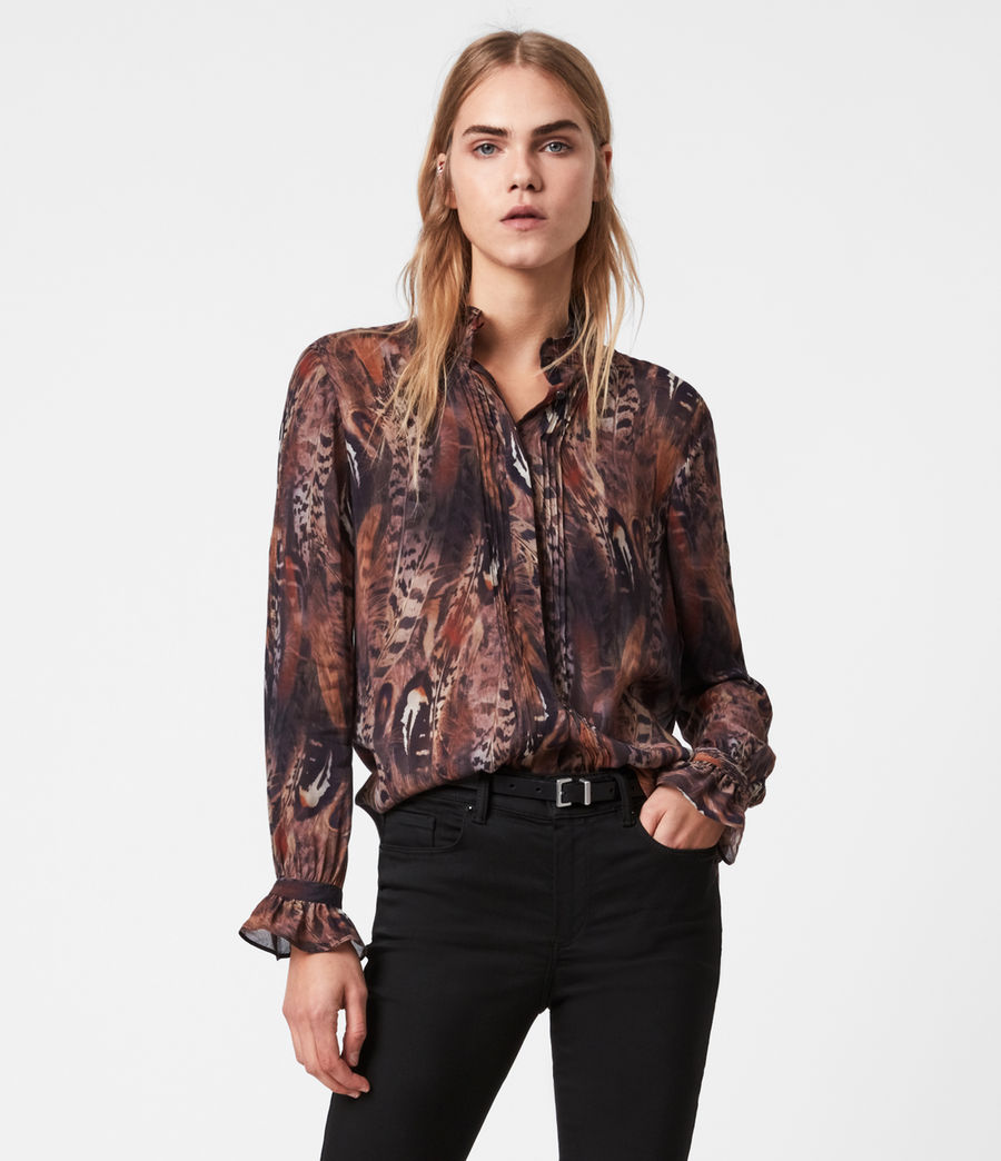 Damen Louise Fusion Hemd (brown) - Image 1