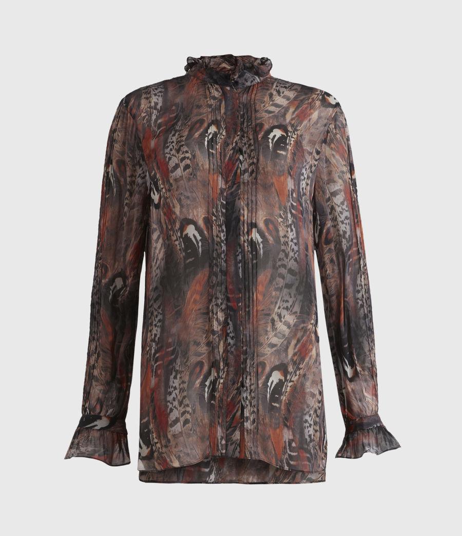Damen Louise Fusion Hemd (brown) - Image 2