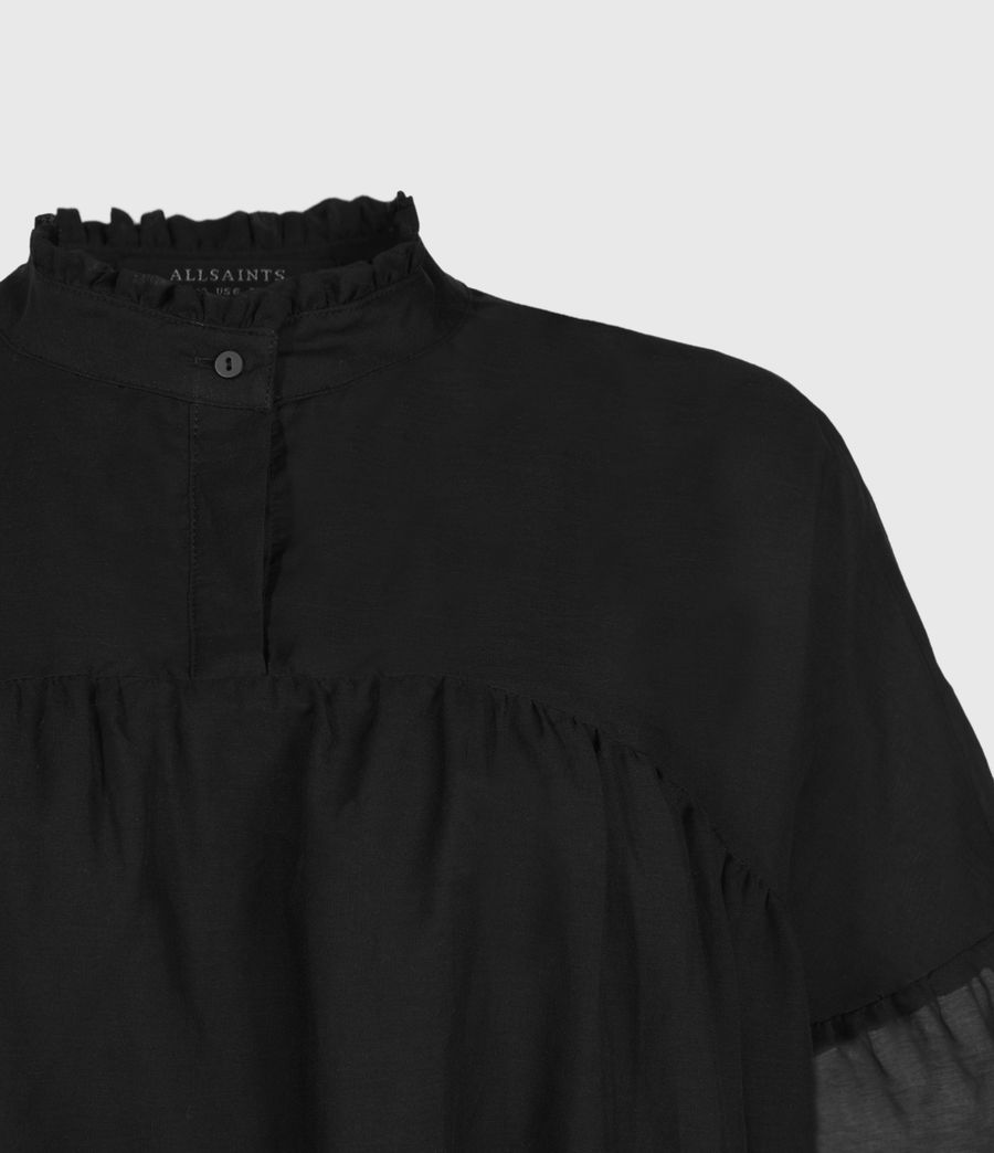Femmes Top en Soie Etna (black) - Image 3