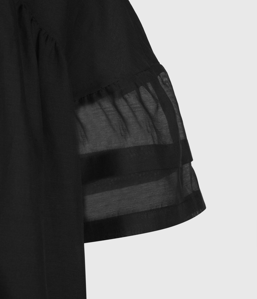 Femmes Top en Soie Etna (black) - Image 4