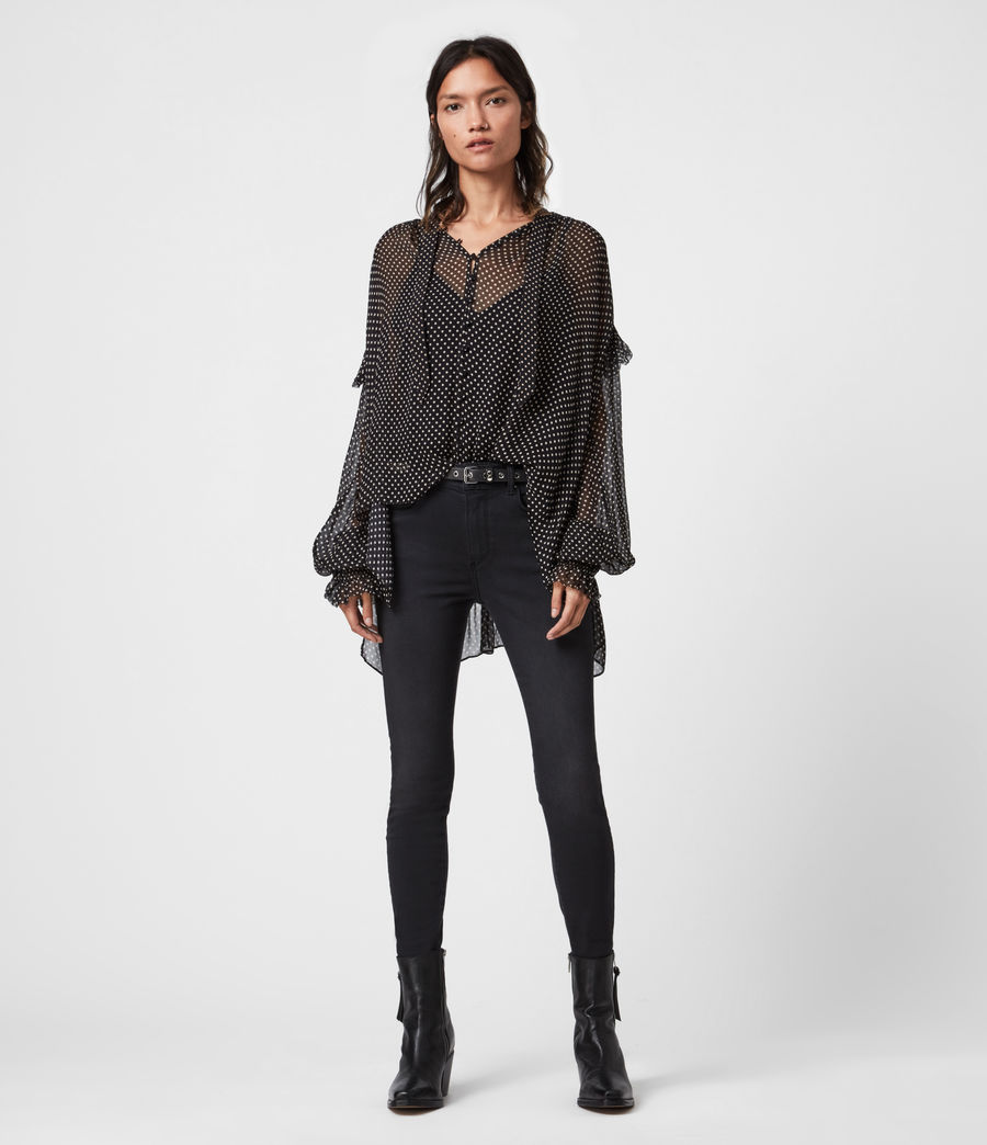 Women's Lara Dot Shirt (black) - Image 1