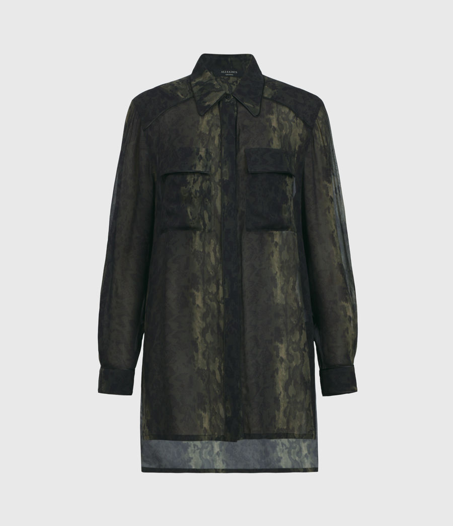 Womens Esther Masala Shirt (forest_green) - Image 1