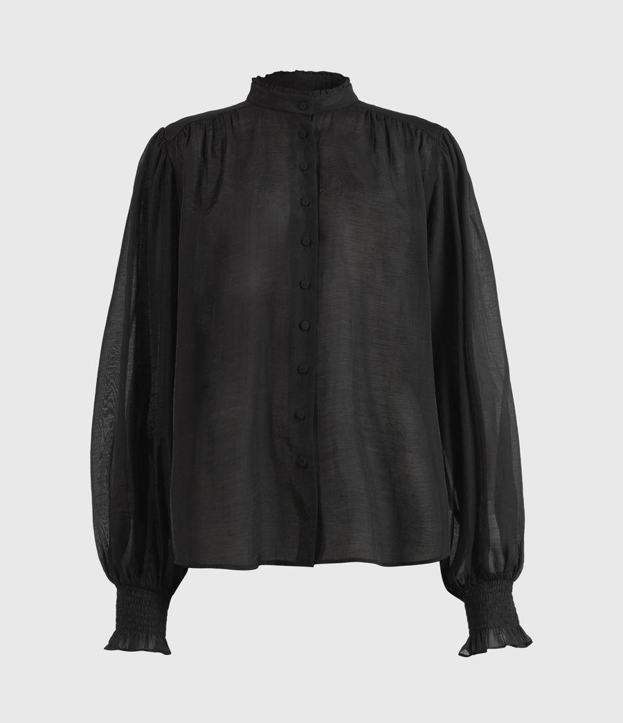 Femmes Chemise Semi-transparente Leonie (black) - Image 2
