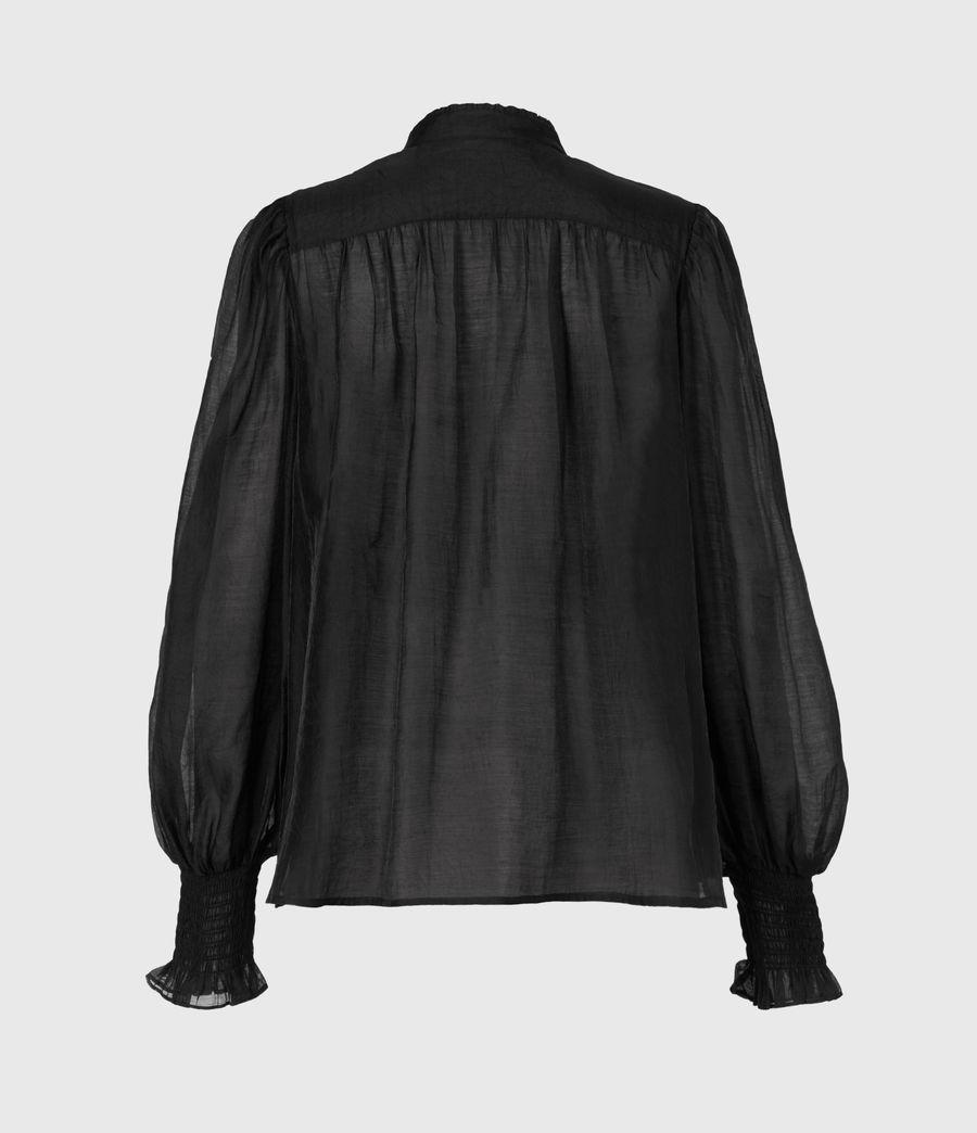 Femmes Chemise Semi-transparente Leonie (black) - Image 3