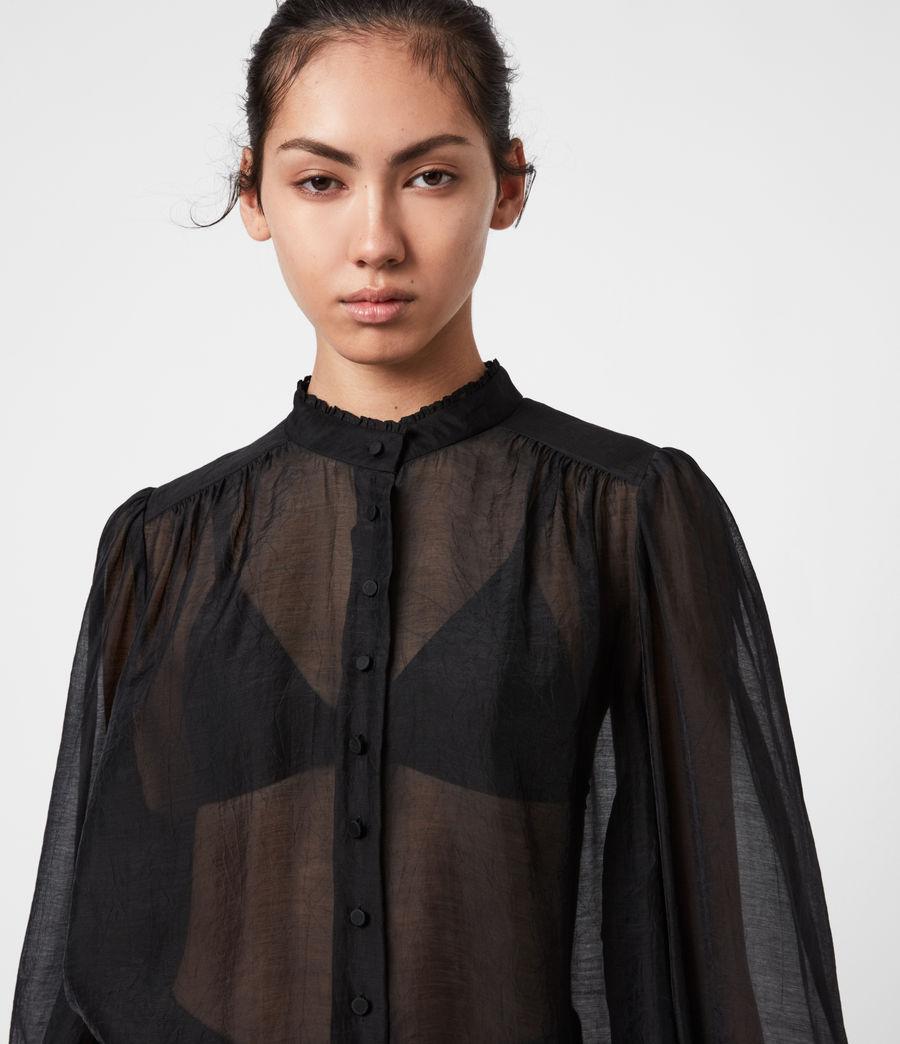 Femmes Chemise Semi-transparente Leonie (black) - Image 4