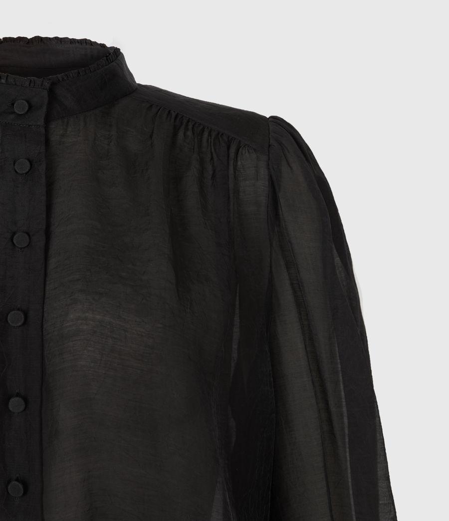 Femmes Chemise Semi-transparente Leonie (black) - Image 5