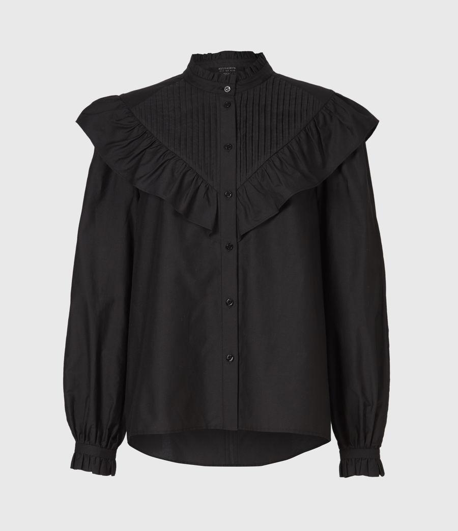 Damen Fiala Rüschen Hemd (black) - Image 2