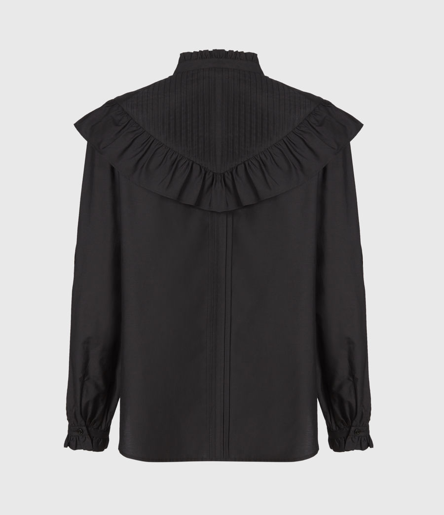 Damen Fiala Rüschen Hemd (black) - Image 3