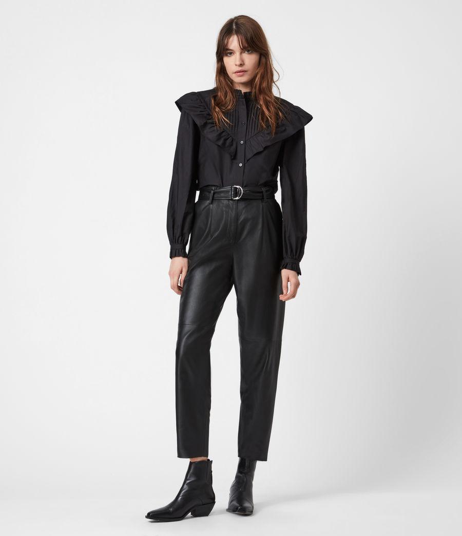 Damen Fiala Rüschen Hemd (black) - Image 4