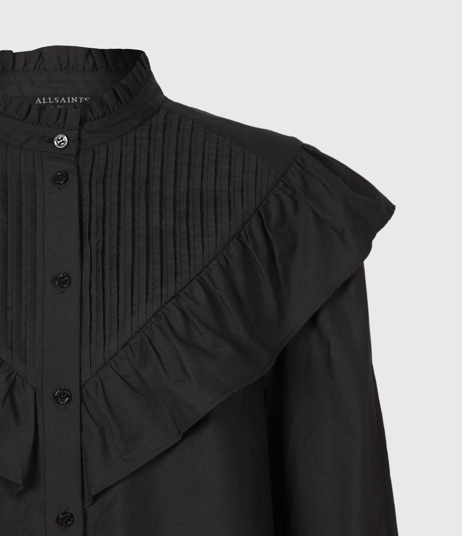 Damen Fiala Rüschen Hemd (black) - Image 5