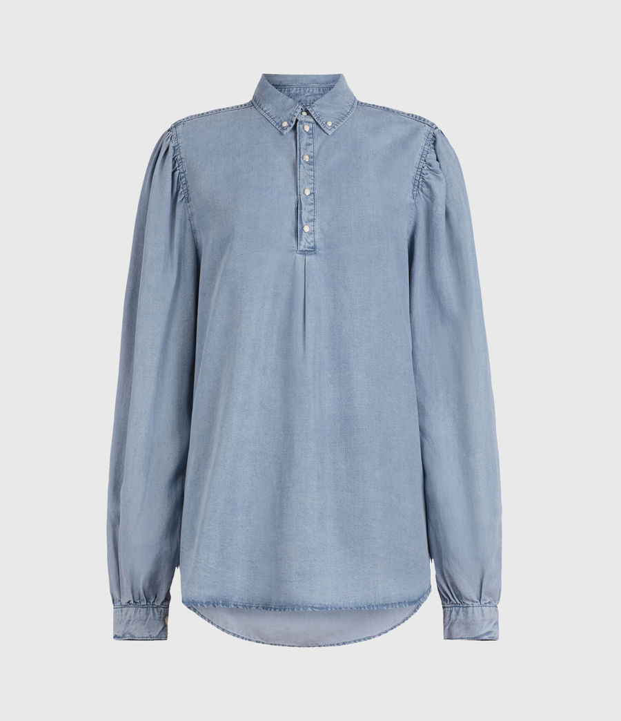 Women's Ellen Tencel Shirt (light_indigo) - Image 1