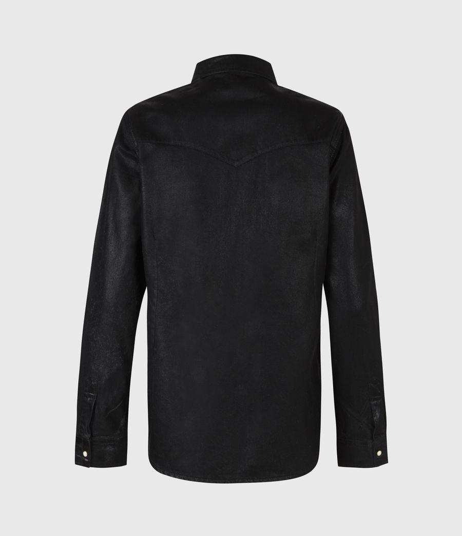Damen Hazel Beschichtetes Hemd (black) - Image 3