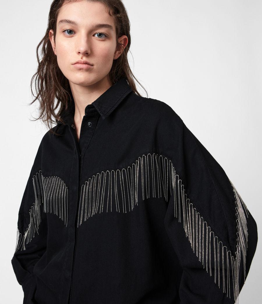 Women's Sandra Jaine Denim Shirt (black) - Image 1
