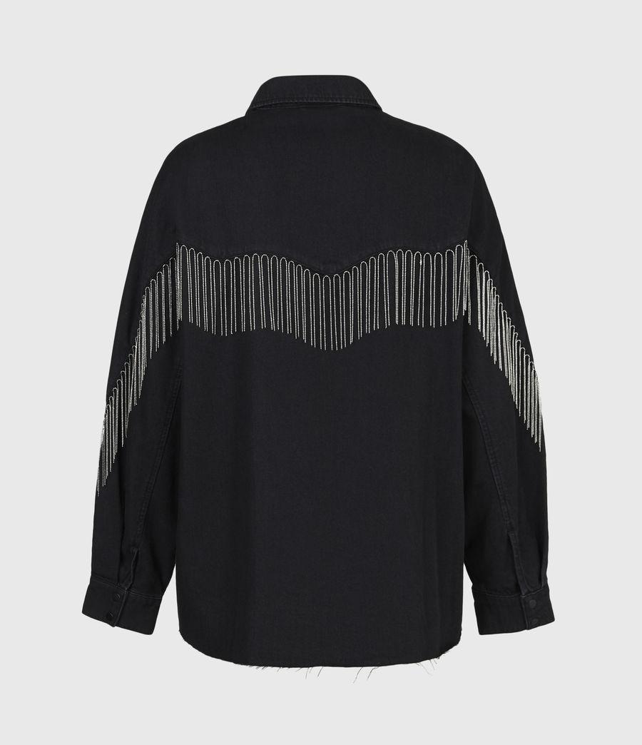 Women's Sandra Jaine Denim Shirt (black) - Image 3