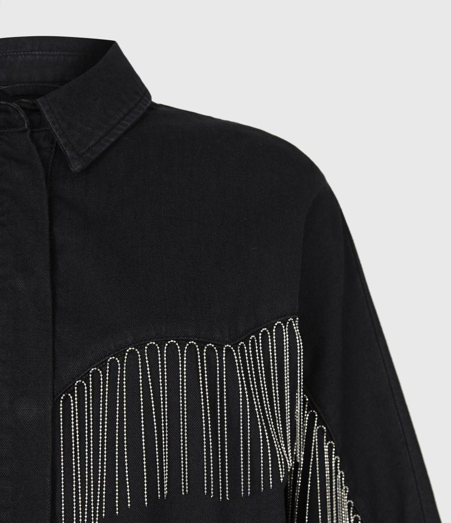 Women's Sandra Jaine Denim Shirt (black) - Image 5
