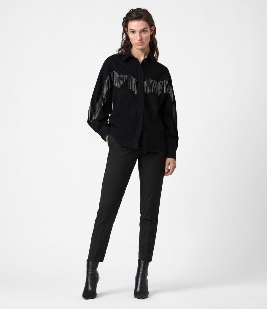 Women's Sandra Jaine Denim Shirt (black) - Image 6