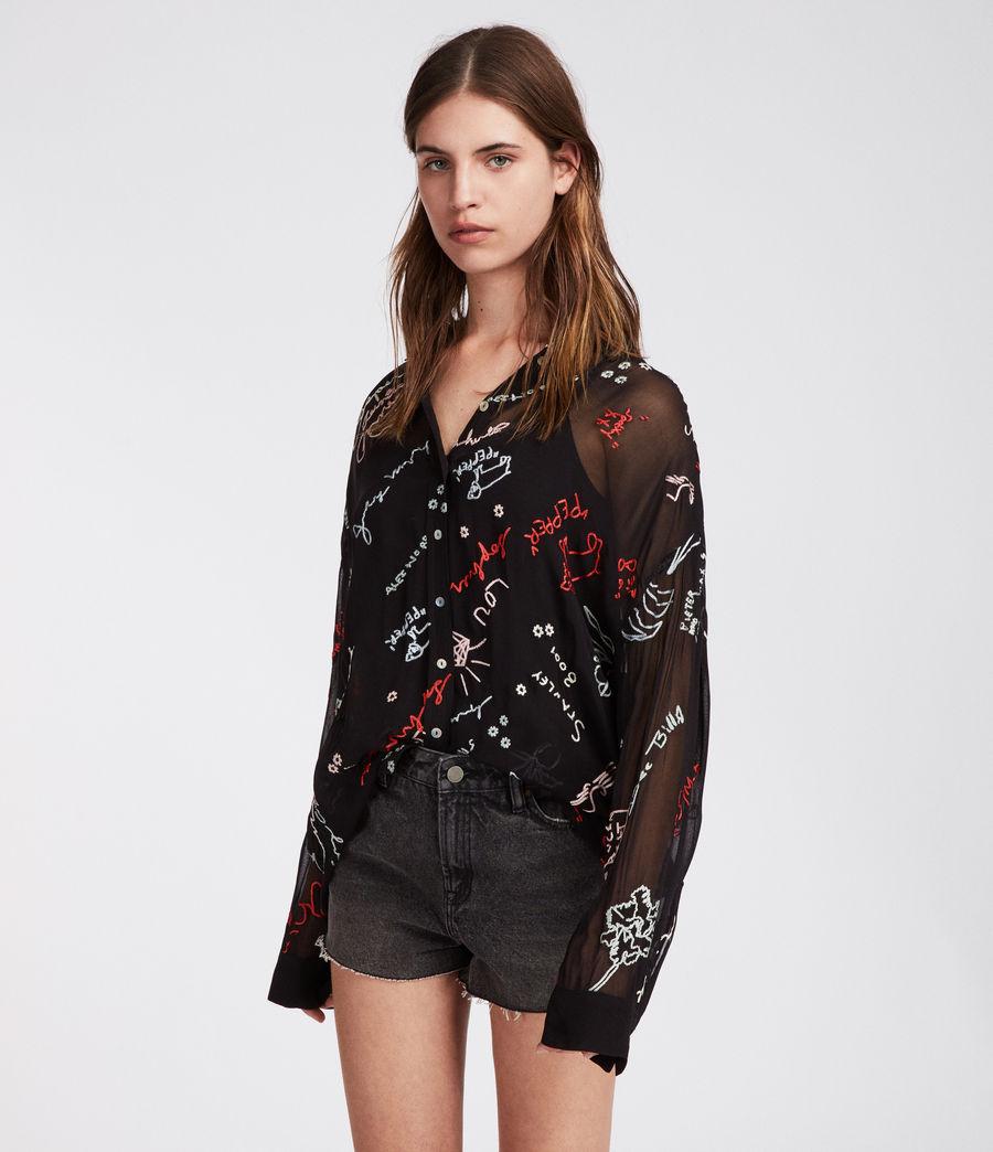 Women's Kyra Graff Shirt (black) - Image 1