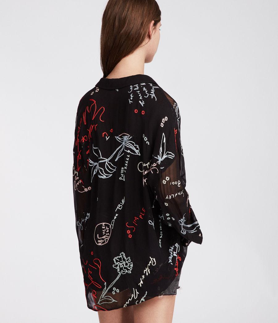 Women's Kyra Graff Shirt (black) - Image 3