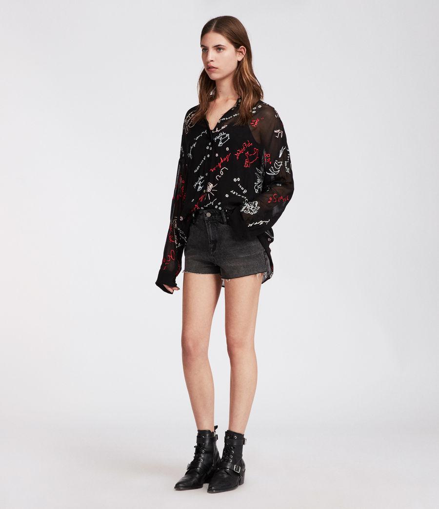 Women's Kyra Graff Shirt (black) - Image 4