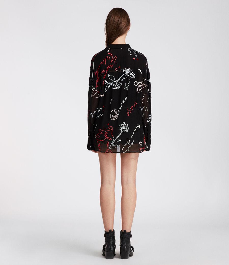 Women's Kyra Graff Shirt (black) - Image 5