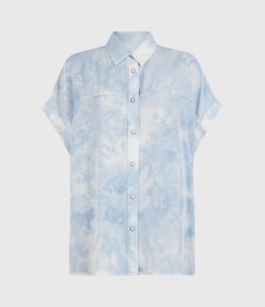 Womens Aliza Tie Dye Shirt (sky_blue) - Image 1