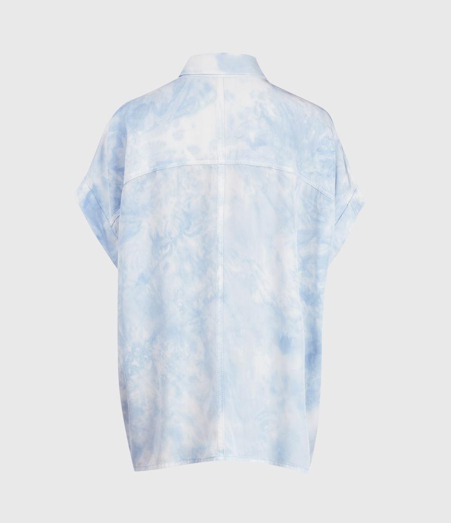 Womens Aliza Tie Dye Shirt (sky_blue) - Image 2
