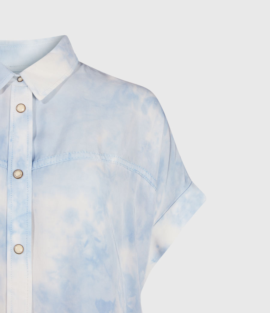 Womens Aliza Tie Dye Shirt (sky_blue) - Image 3