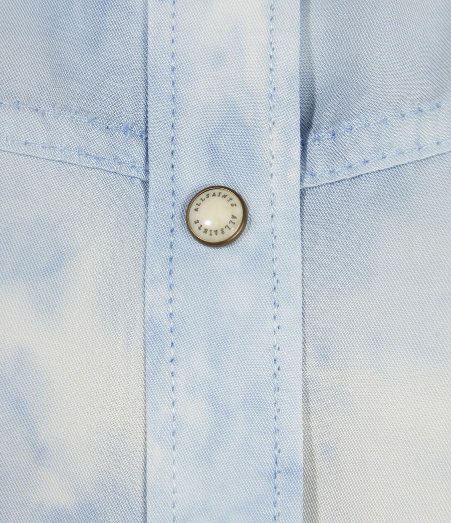 Womens Aliza Tie Dye Shirt (sky_blue) - Image 4