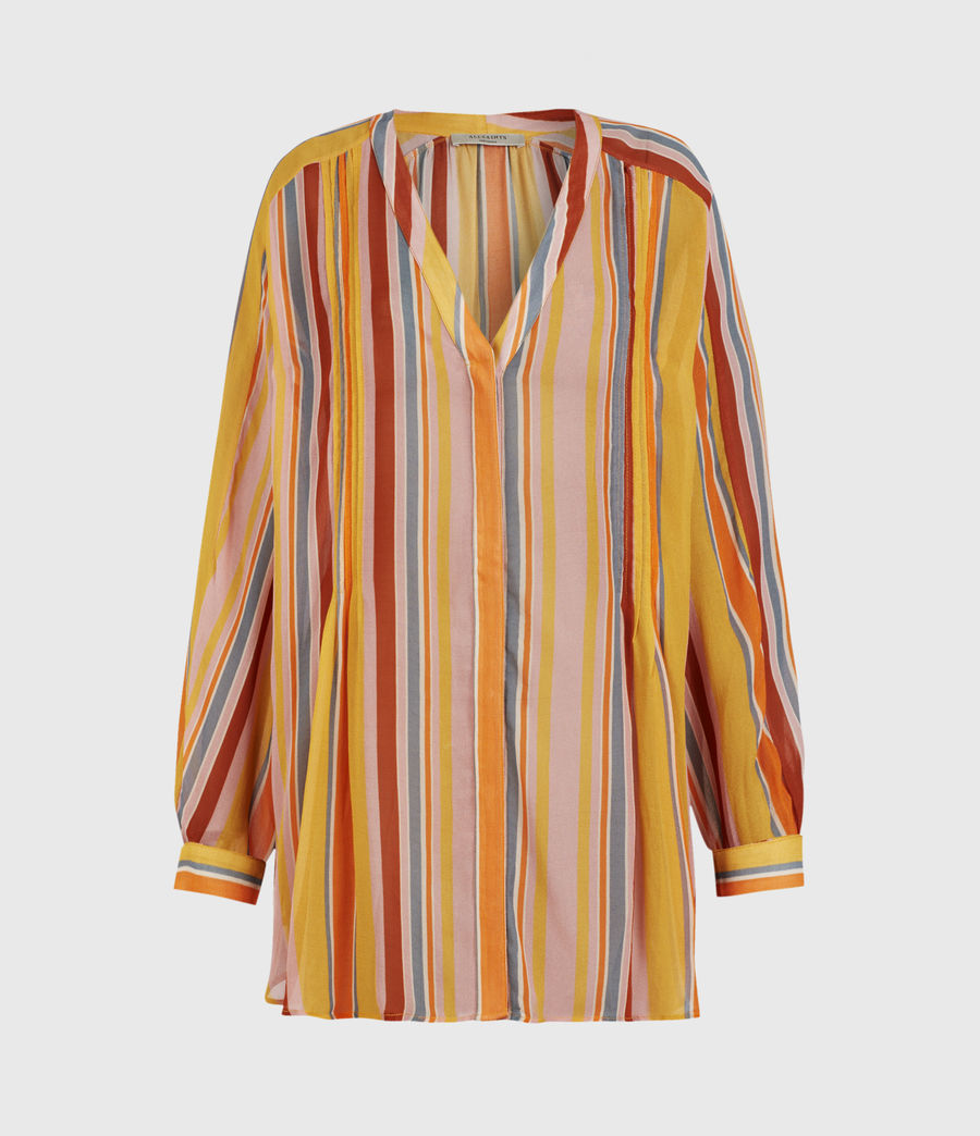 Womens Adra Stripe Shirt (orange_pink) - Image 2
