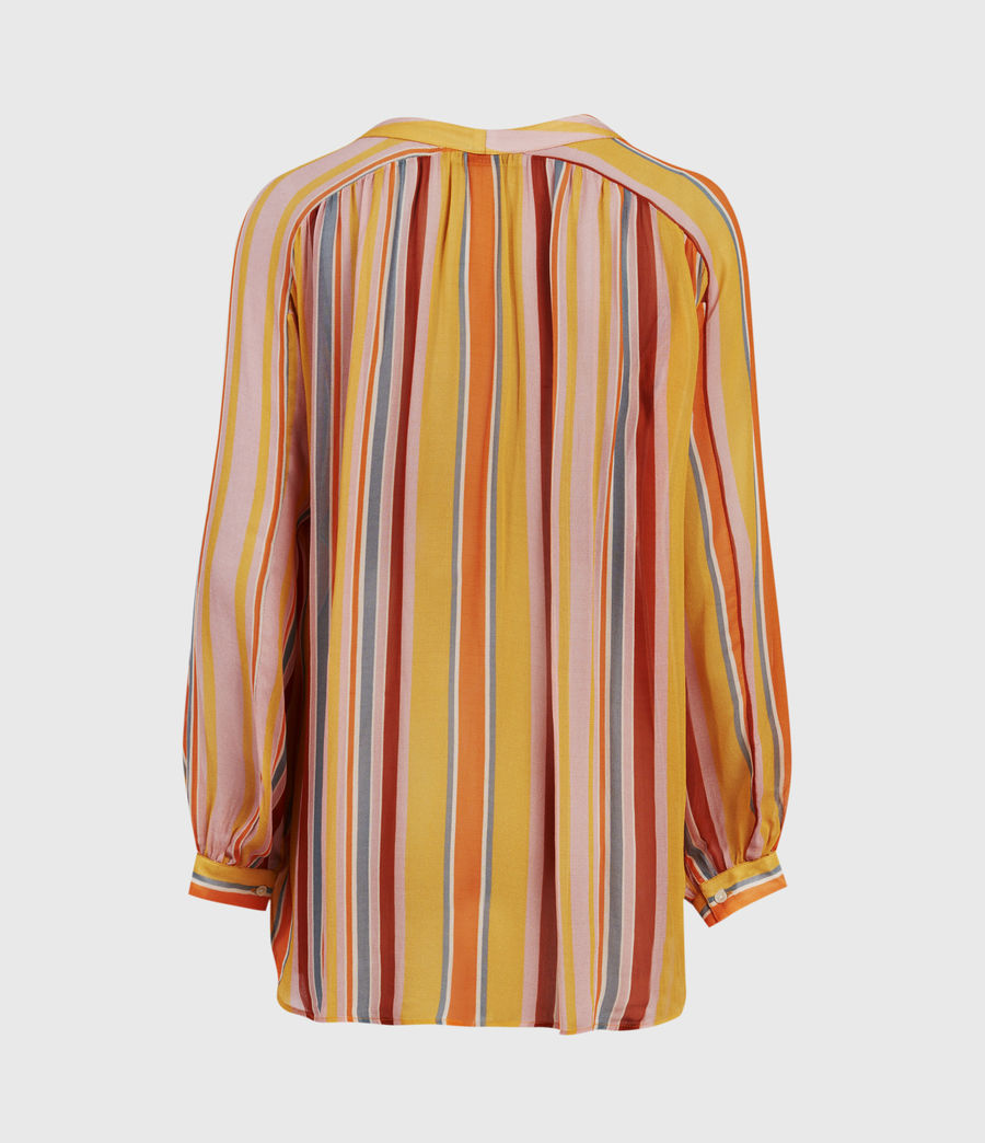 Womens Adra Stripe Shirt (orange_pink) - Image 3