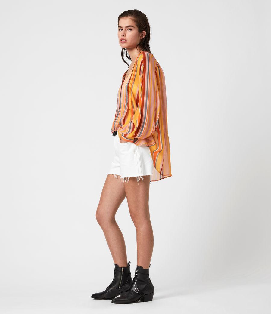 Womens Adra Stripe Shirt (orange_pink) - Image 4