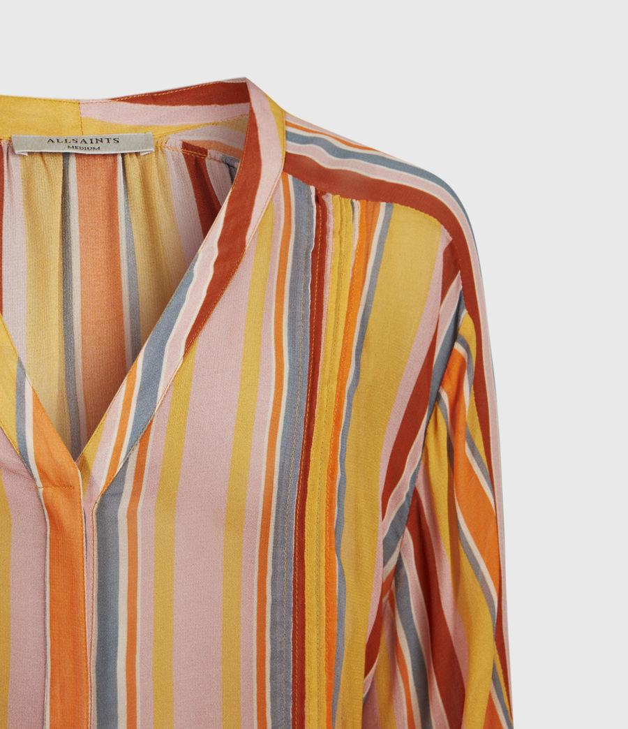 Womens Adra Stripe Shirt (orange_pink) - Image 5
